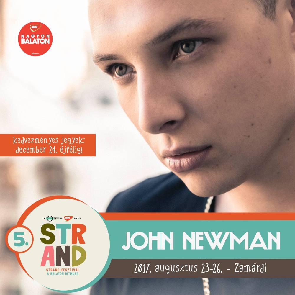 John Newman koncert - Strand Fesztivál 2017