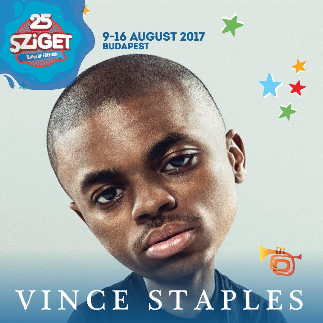 Vince Staples koncert - Sziget Fesztivál 2017